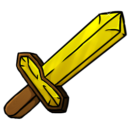 Yellow clipart sword. Minecraft gold icon png