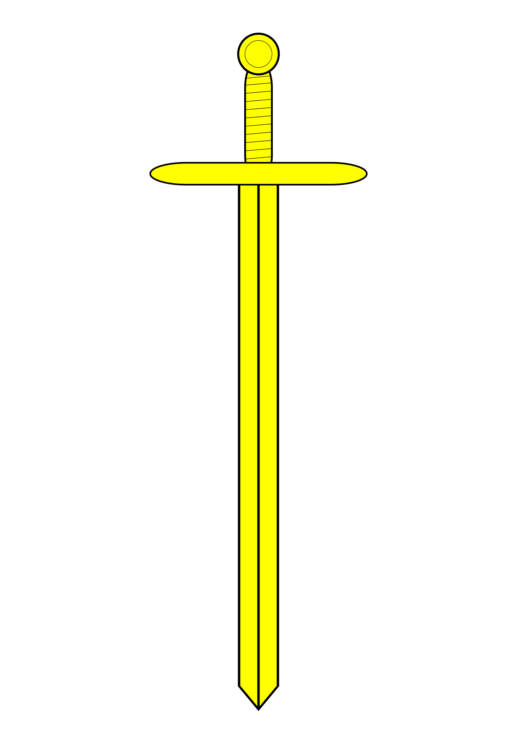 Yellow clipart sword. Or big image png