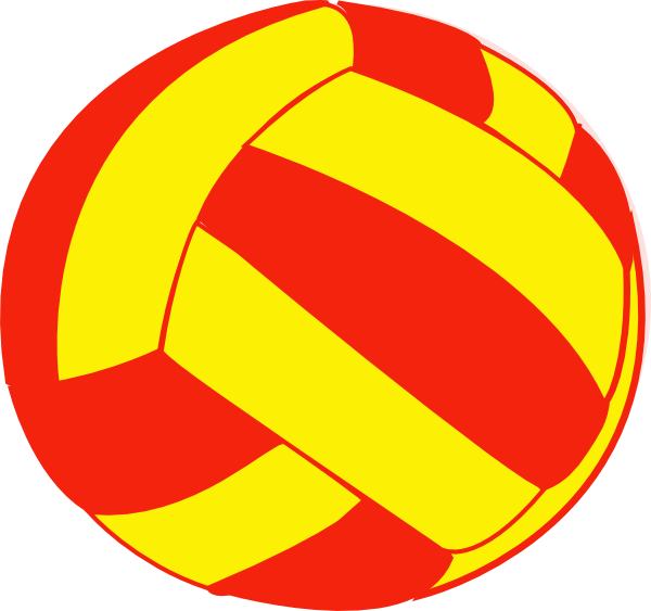 Yellow clipart volleyball. Red and clip art