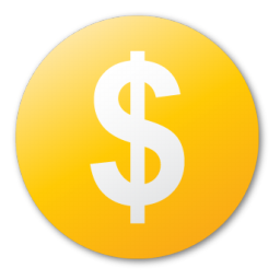 Yellow dollar sign png. Image royalty free stock