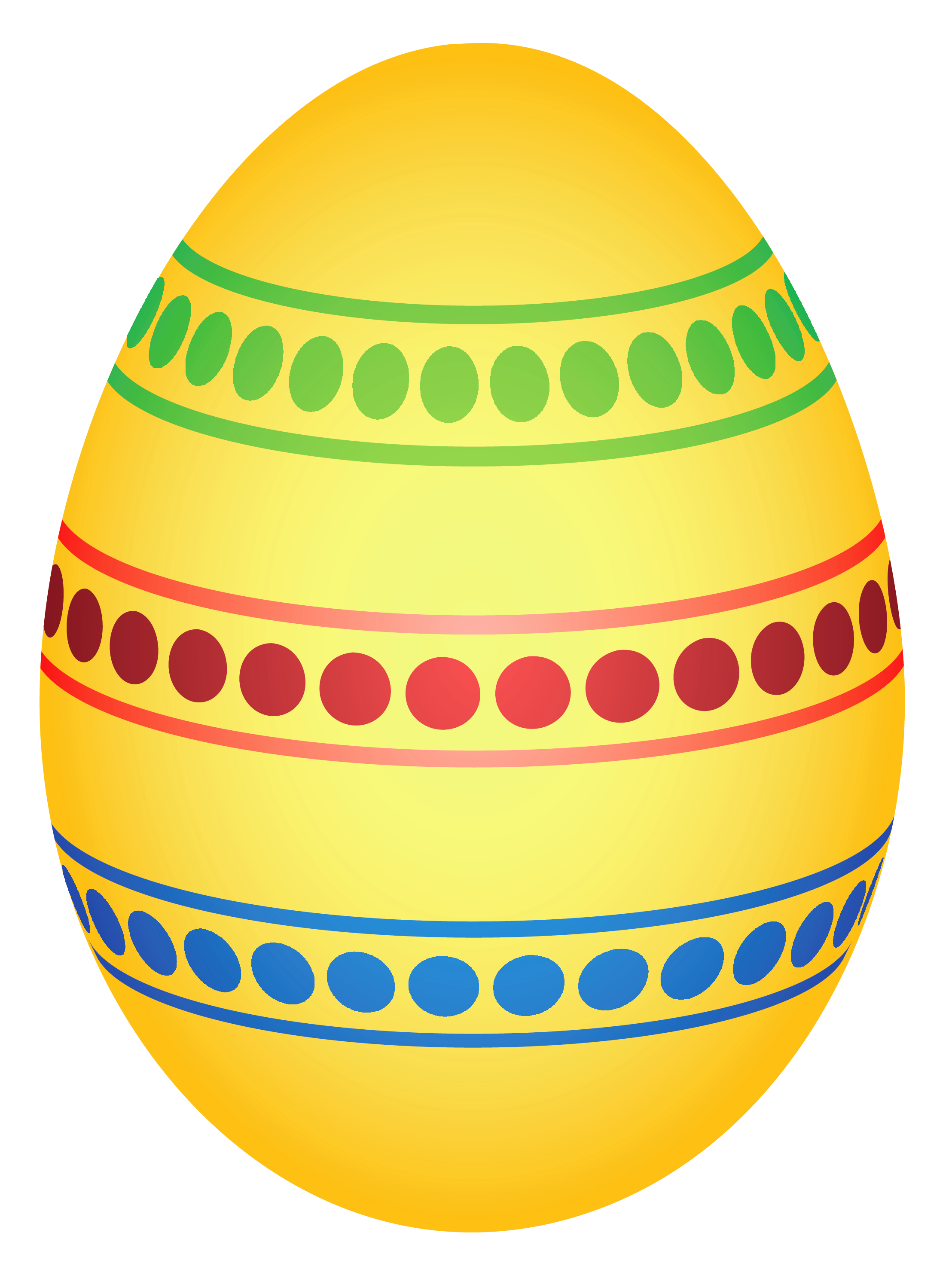 Yellow easter egg png. Colorful dotted clipairt picture