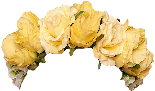 Yellow flower crown png. Flowercrown aesthetic freetoedit report