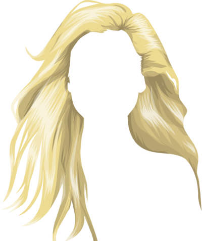 Yellow wig png. Blonde hair