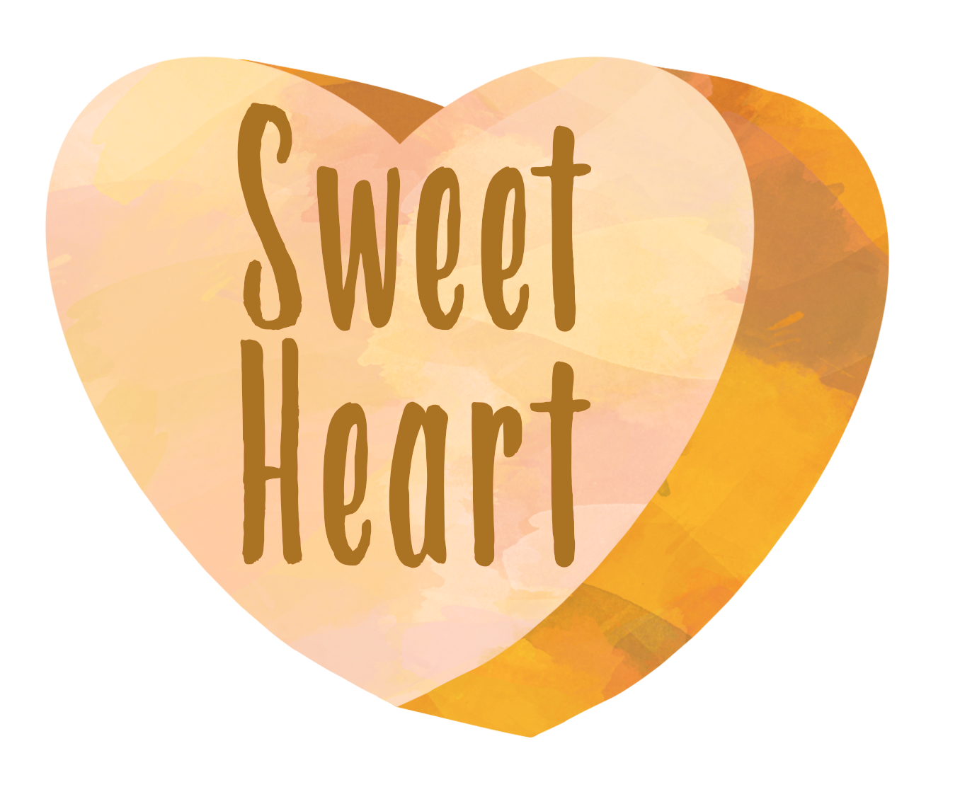 Yellow heart candy clip art. Watercolor hearts sweet