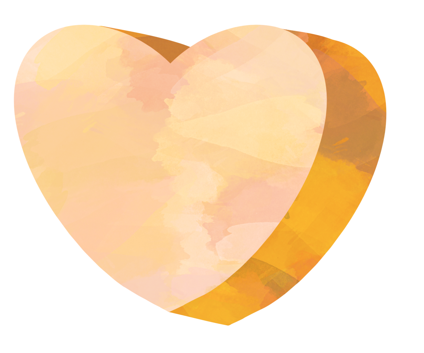Yellow heart candy clip art. Watercolor hearts