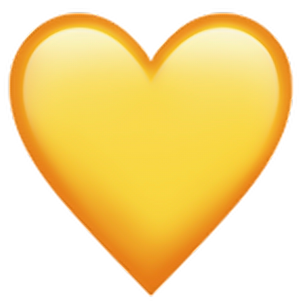 Yellow heart emoji png. Yellowheartemoji