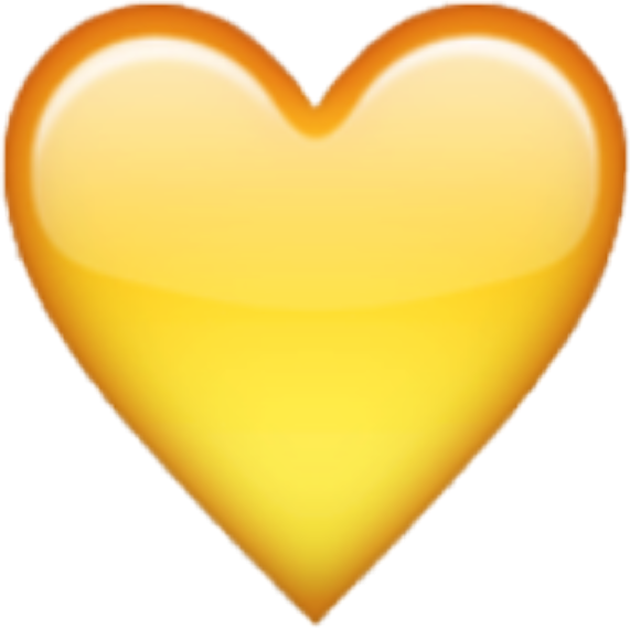 Yellow heart emoji png. Sticker transprent free download