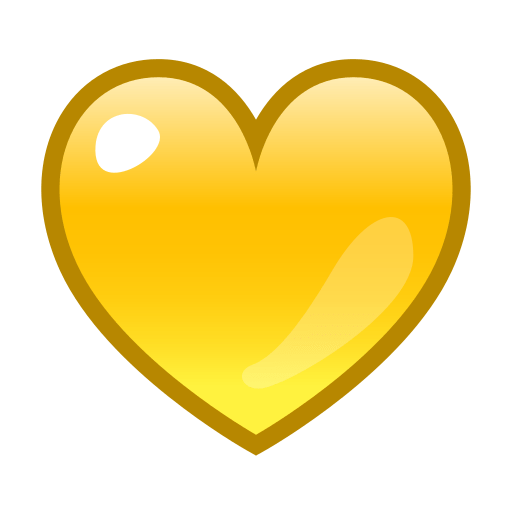 Yellow heart emoji png. For facebook email sms