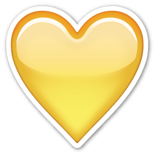 Yellow heart emoji png. Emojistickers com