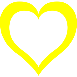 Yellow heart png. Icon free icons