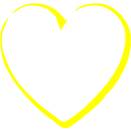 Yellow heart png. Download free transparent image