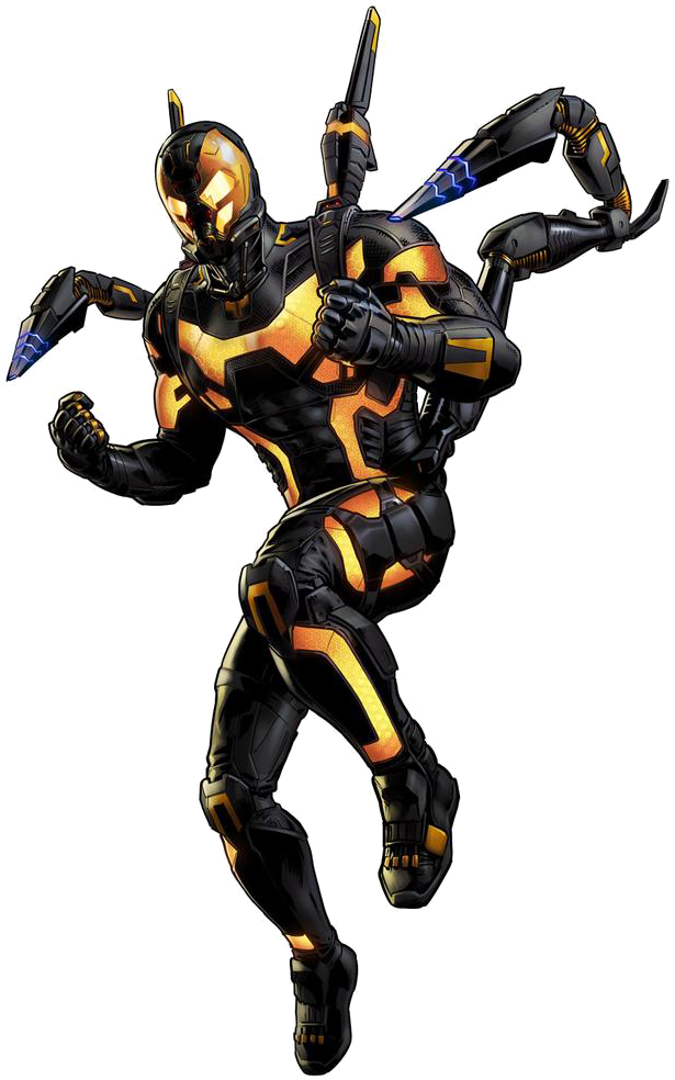 Yellow jacket ant man png. Image yellowjacket portrait art