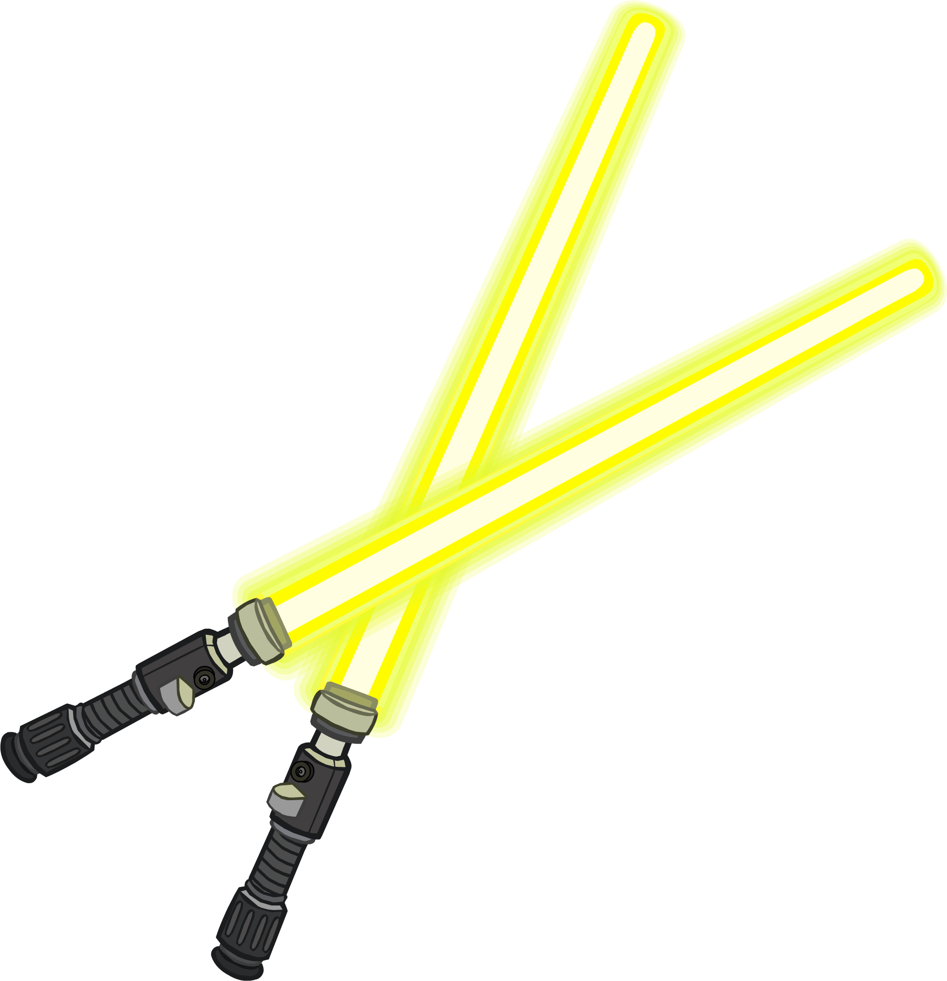 Yellow lightsaber png. Dual lightsabers club penguin