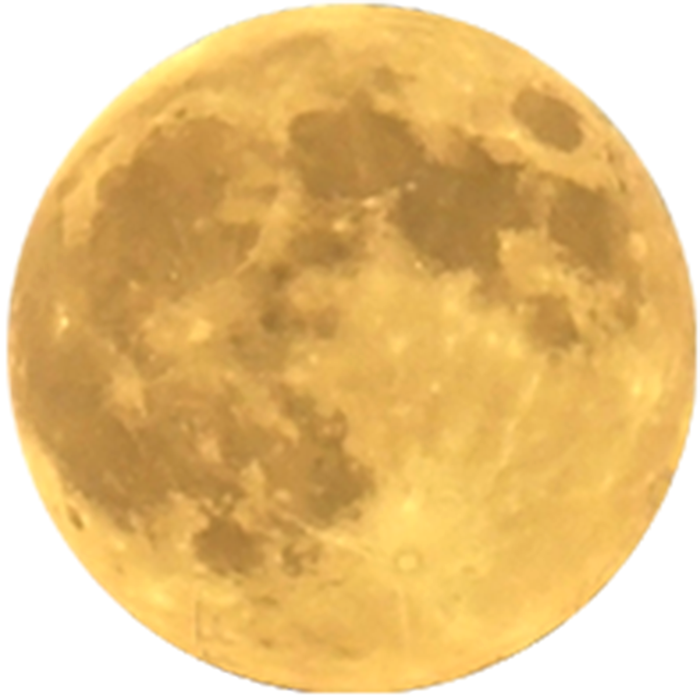 Yellow moon png. Full image with transparent