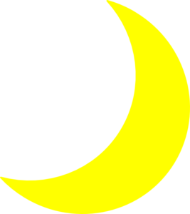 Yellow moon png. Clip art at clker
