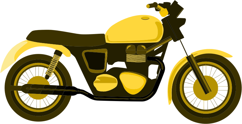 Yellow motorcycle. Clipart