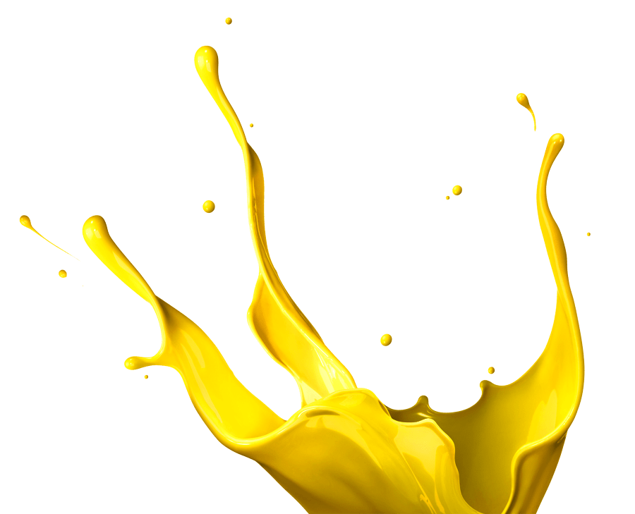 Yellow paint splash png. Splatter transparent stickpng