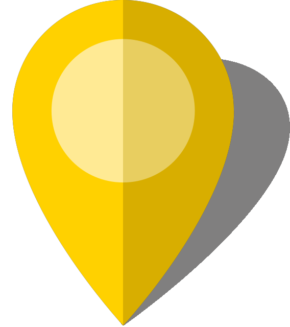 Yellow pin png. Simple location map icon