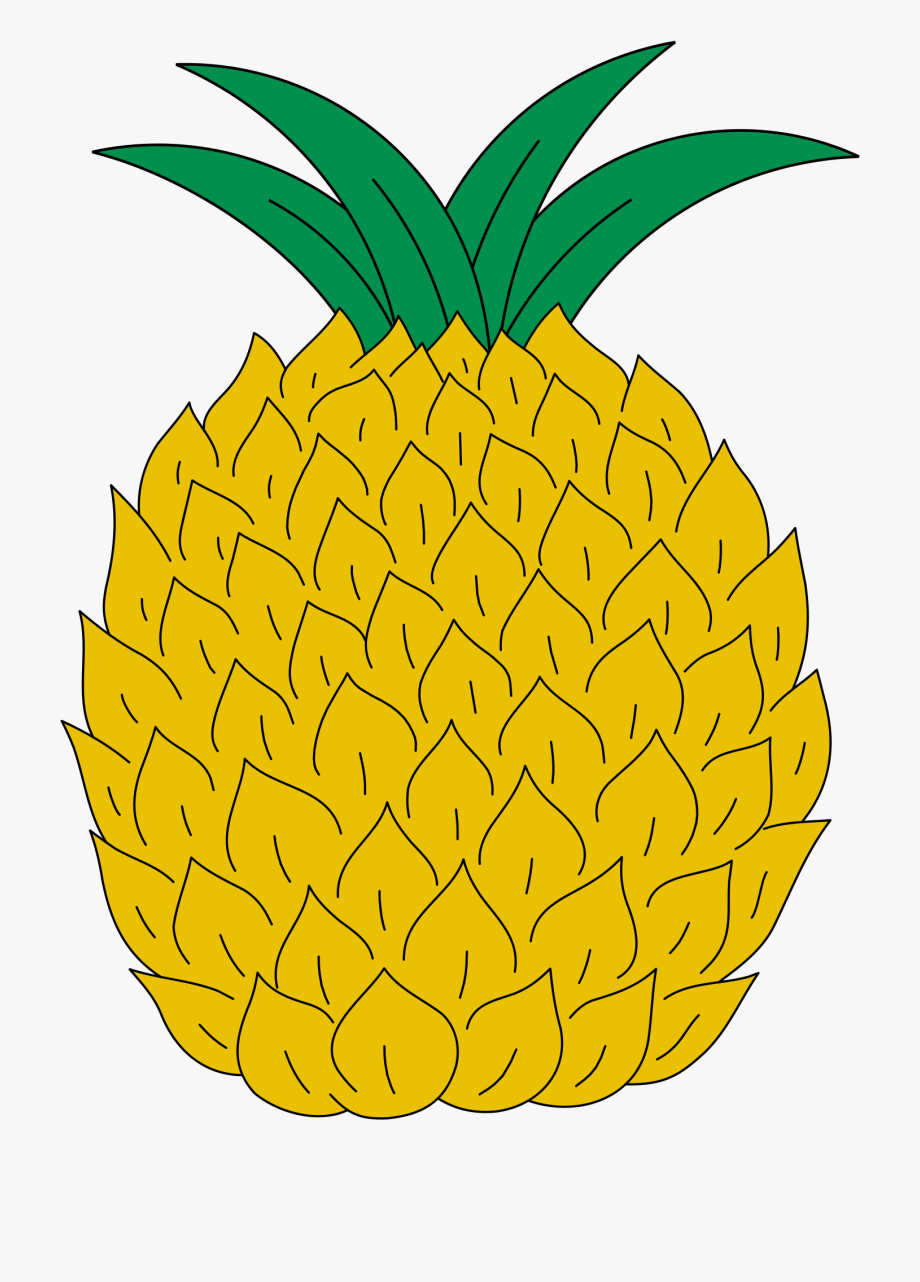 Yellow pineapple. Clipart svg coat of