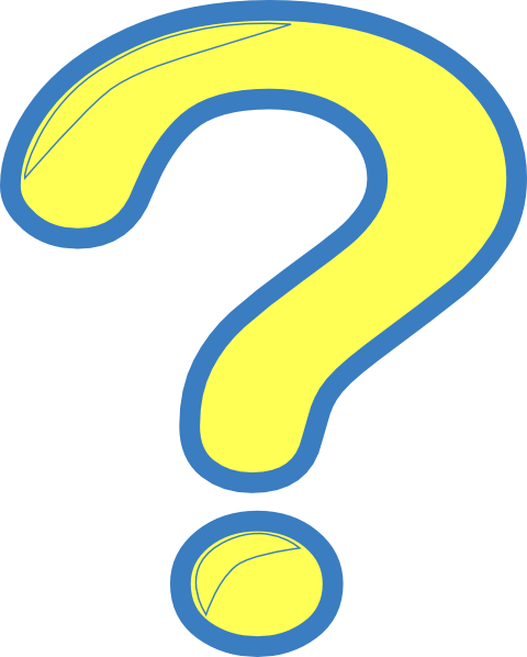 Yellow question mark png. And blue clip art