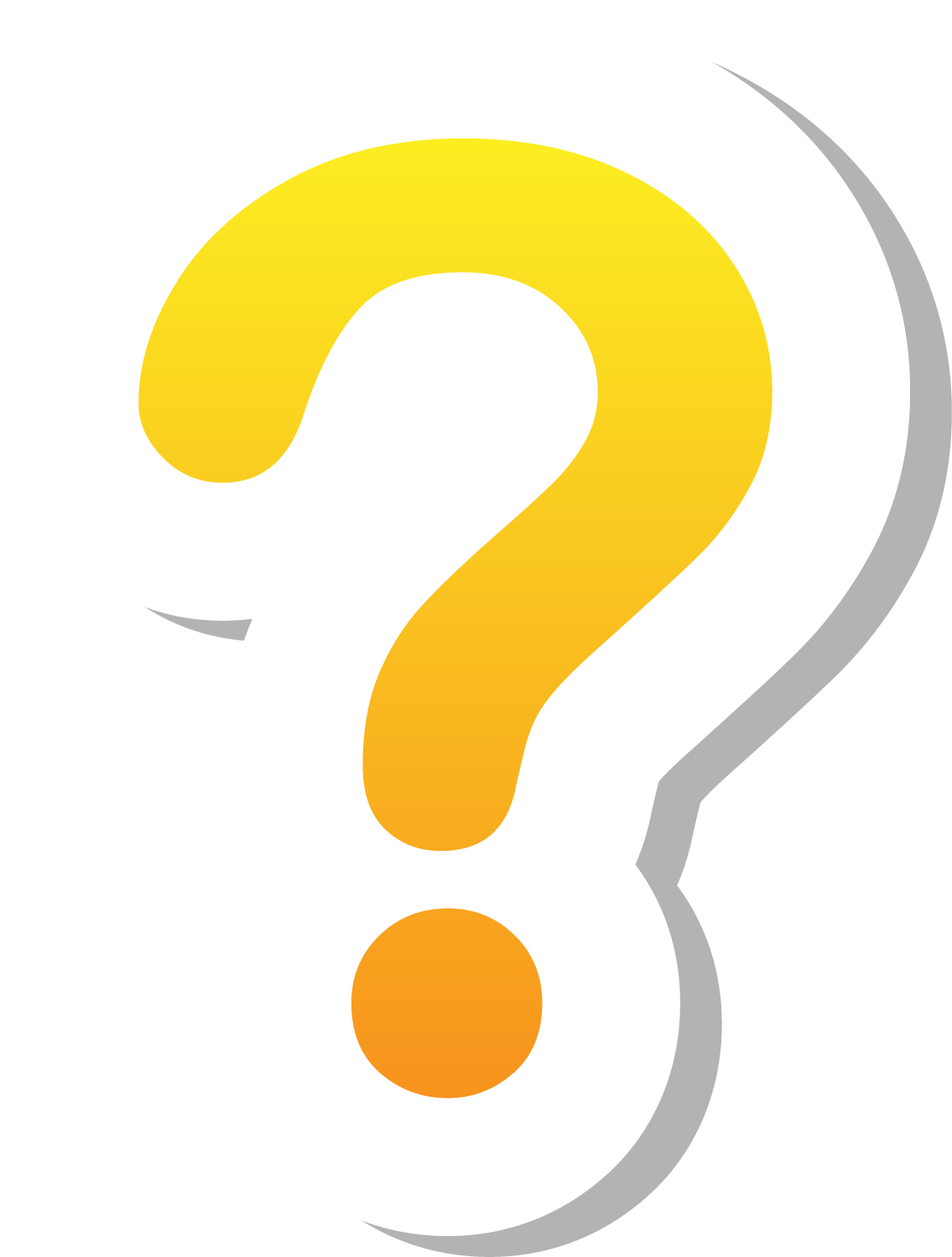 Yellow question mark png. Adobe illustrator icon pale