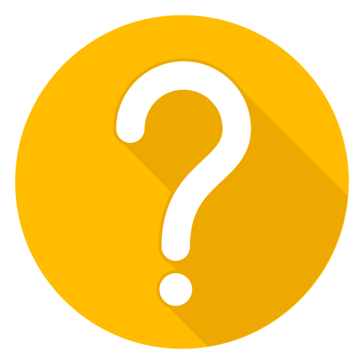 Yellow question mark png. Circle icon transparent svg