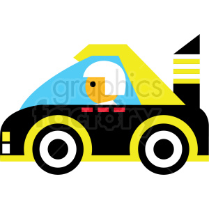 Yellow race car. Clipart royalty free images