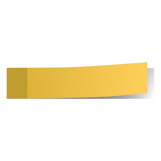 Vector rectangle yellow. Post it page marker