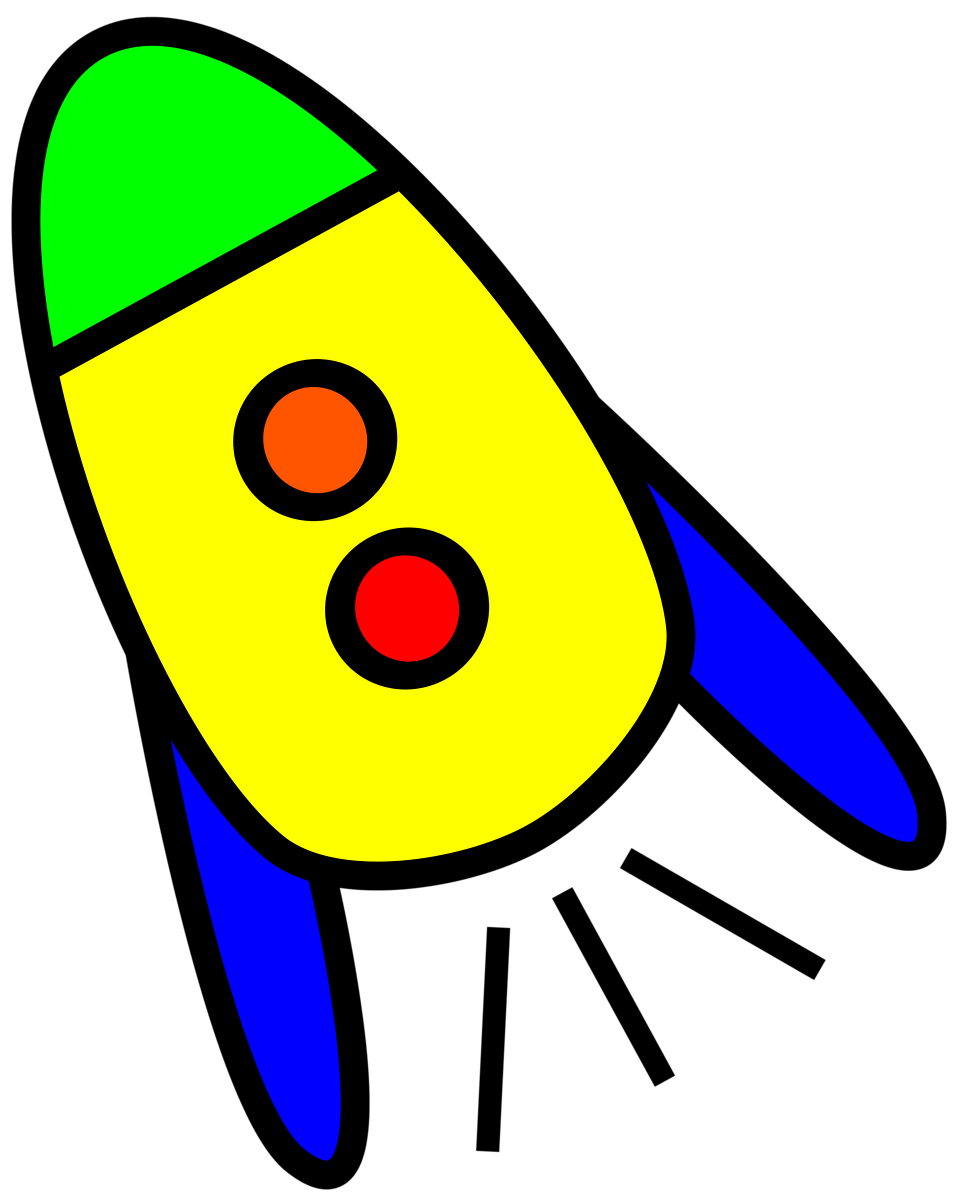 Yellow rocket. Clipart
