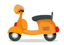 Yellow scooter. Search results for clip