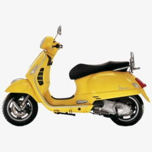Yellow scooter. Png image download with