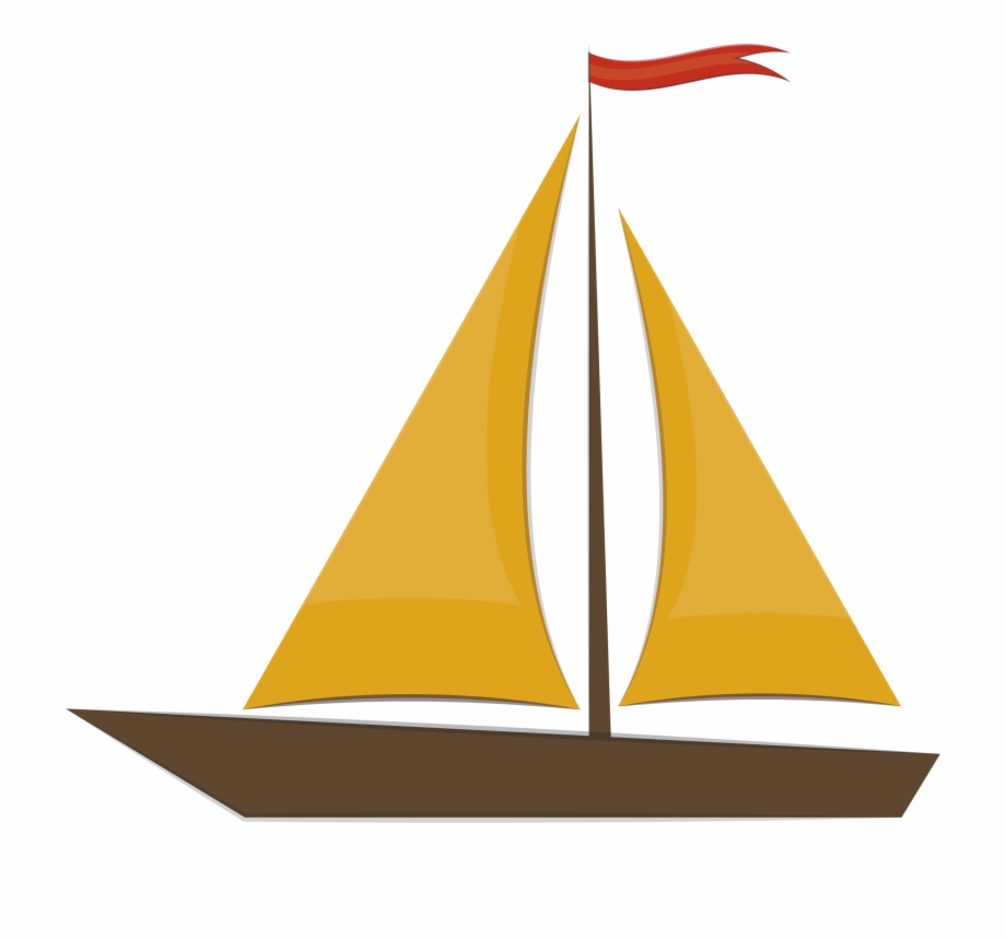 Yellow ship. Free boat clipart transparent