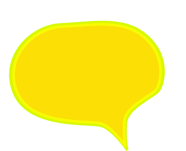 Yellow speech bubble png. Clipart with transparent background