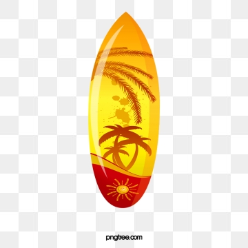 Yellow surfboard. Clipart images png format