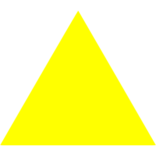 Yellow triangle png. Icon free shape icons