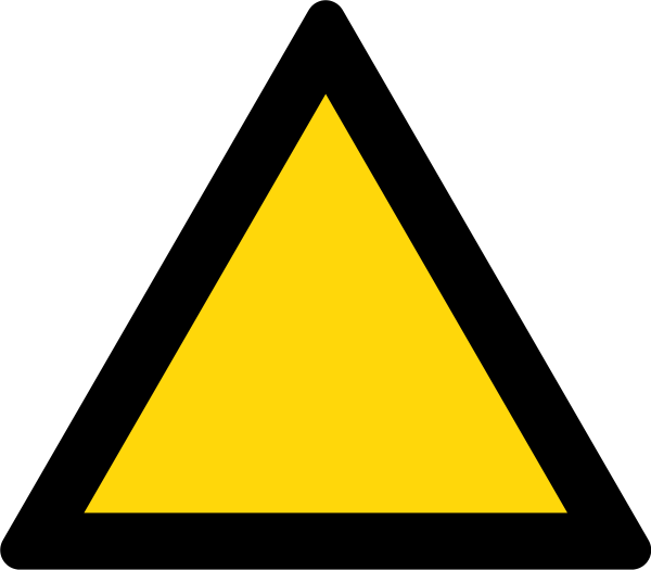Yellow triangle png. File warning sign black