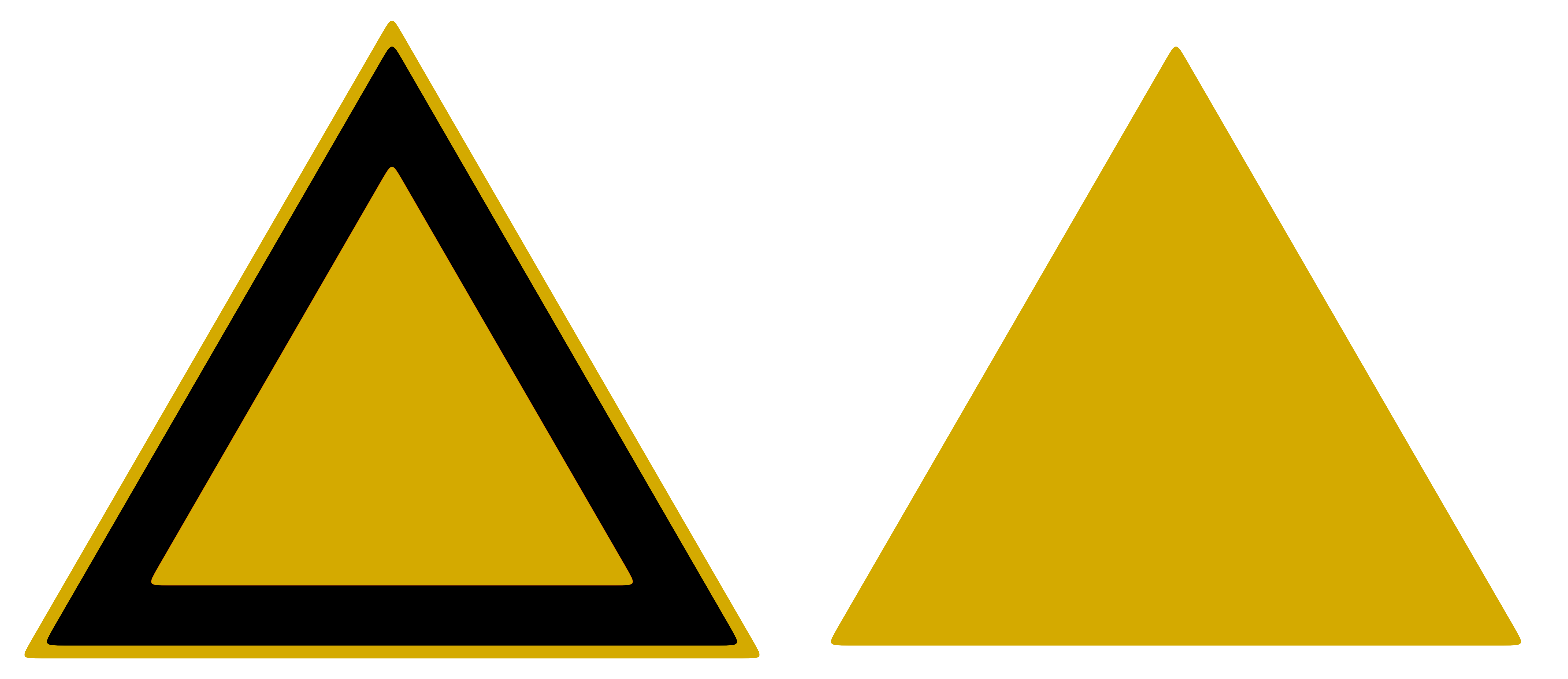 Yellow triangle png. Sign model stock by