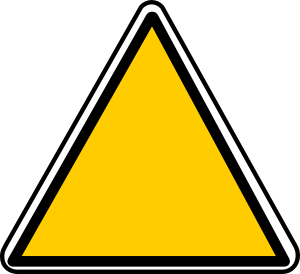 Yellow triangle png. Sign clip art at