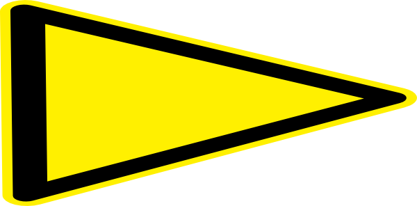 Yellow triangle png. Modified flag clip art