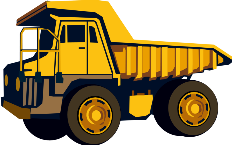 Yellow truck. Download free png dump