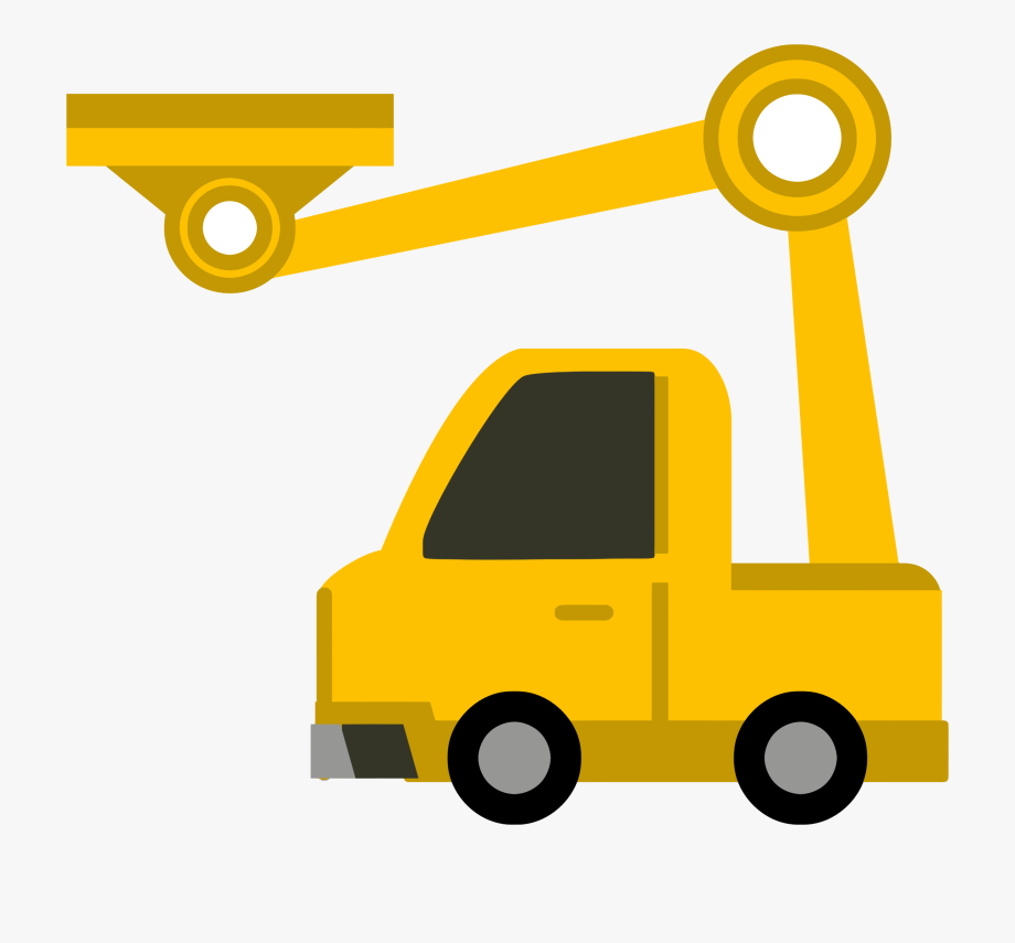 Yellow truck. Icon png clipart crane