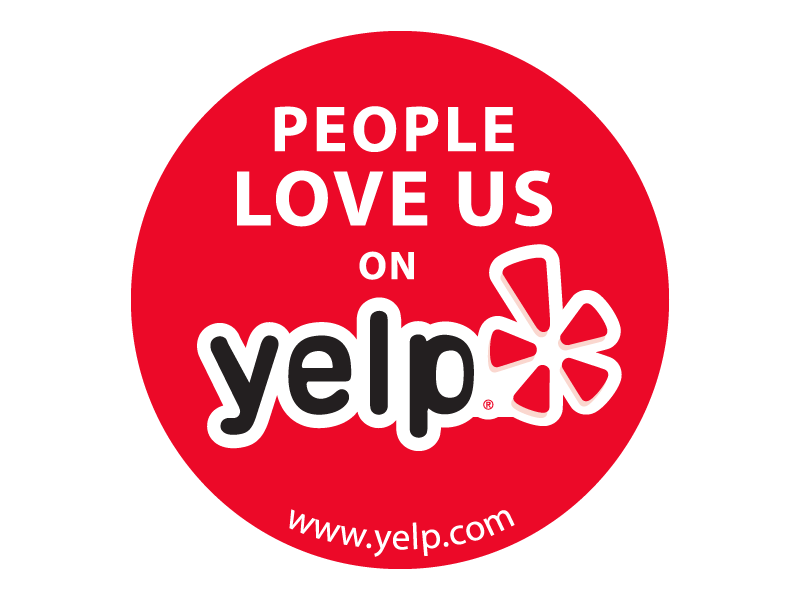 Yelp badge png. People love us on