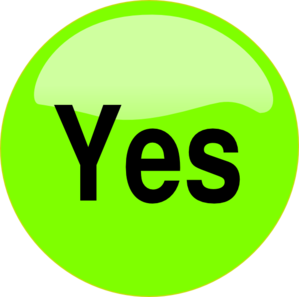 Yes clipart. Button