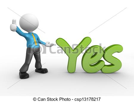 D people man person. Yes clipart graphic download