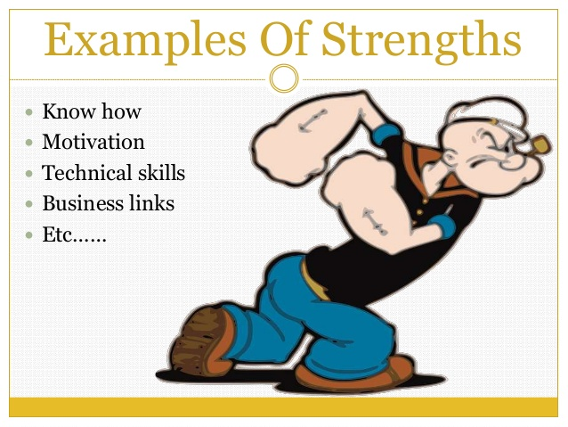 Yes clipart strength weakness. And examples of strengths