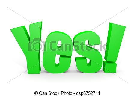 Green d text with. Yes clipart vector black and white