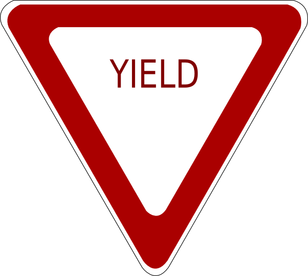 Clip art at clker. Yield sign png royalty free library