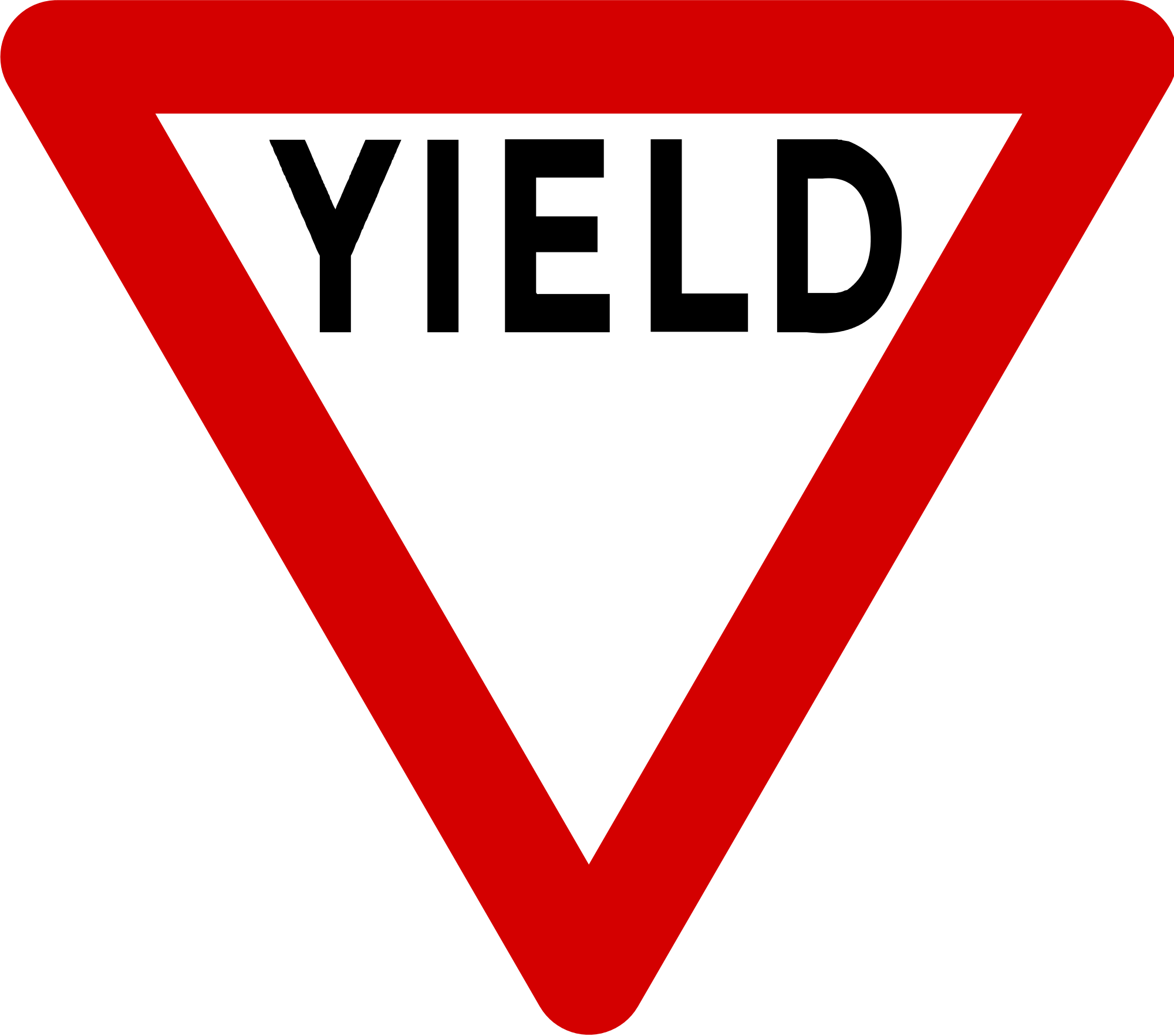 File mandatory road svg. Yield sign png image black and white
