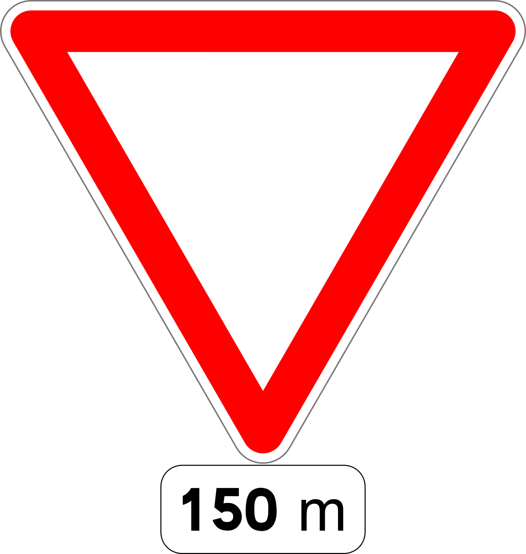 Yield sign png. Car traffic road fig