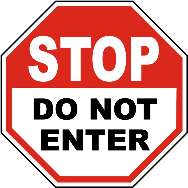 Stop do not enter. Yield sign png banner library library